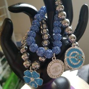Blue and Silver Designer Bracelet